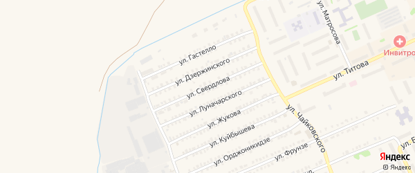 Улица Свердлова на карте Еманжелинска с номерами домов