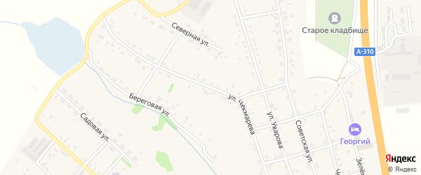 Улица Чекмарева на карте села Еманжелинки с номерами домов
