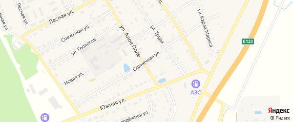 Солнечная улица на карте Еманжелинска с номерами домов