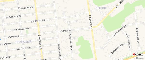 Улица Разина на карте Южноуральска с номерами домов