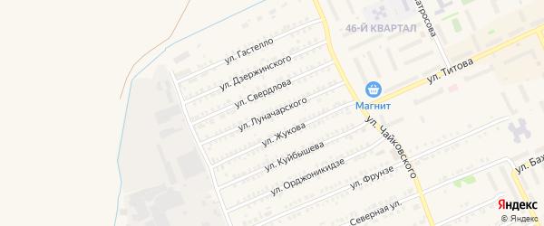 Улица Луначарского на карте Еманжелинска с номерами домов