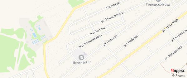 Переулок Маяковского на карте Еманжелинска с номерами домов