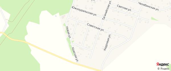 Отечественная улица на карте поселка Рощино с номерами домов