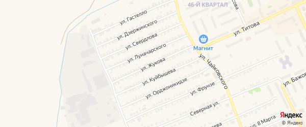 Улица Жукова на карте Еманжелинска с номерами домов