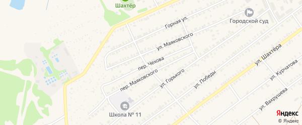 Переулок Чехова на карте Еманжелинска с номерами домов