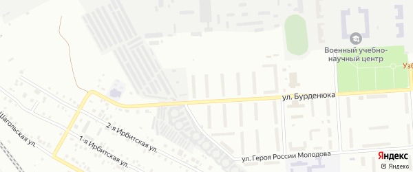 Территория ГСК 508 по ул Бурденюка блок 14 на карте Челябинска с номерами домов