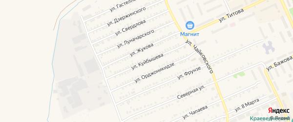 Улица Куйбышева на карте Еманжелинска с номерами домов