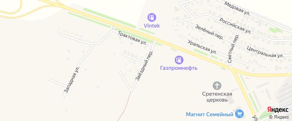 Звездный переулок на карте Еманжелинска с номерами домов