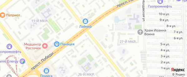 Улица 40-летия Победы на карте Челябинска с номерами домов