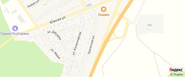 Уральская улица на карте села Еманжелинки с номерами домов