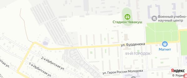 Территория ГСК 508 по ул Бурденюка блок 12 на карте Челябинска с номерами домов