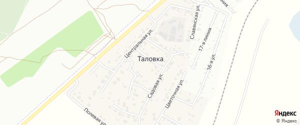 Спортивная улица на карте деревни Таловки с номерами домов