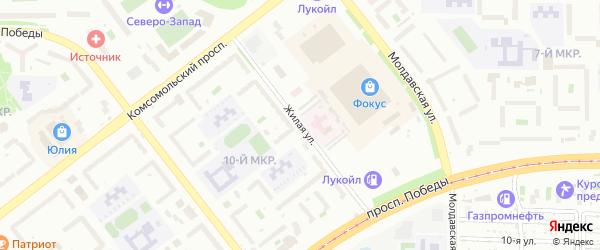 Улица Жилая (Сухомесово) на карте Челябинска с номерами домов