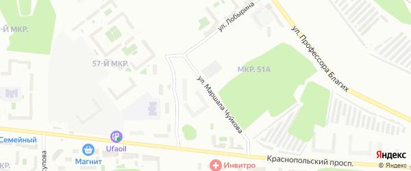 Улица Маршала Чуйкова на карте Челябинска с номерами домов