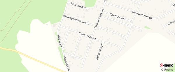 Советская улица на карте поселка Рощино с номерами домов