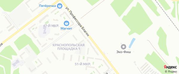 Улица Профессора Благих на карте Челябинска с номерами домов