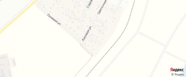 Липовая улица на карте деревни Таловки с номерами домов