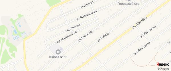 Улица Горького на карте Еманжелинска с номерами домов