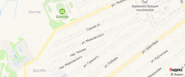 Улица Маяковского на карте Еманжелинска с номерами домов