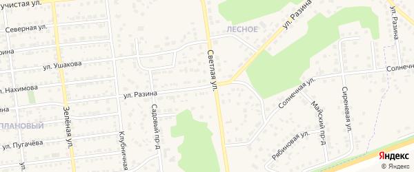 Улица Разина на карте Увельского поселка с номерами домов