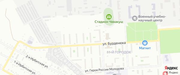 Территория ГСК 508 по ул Бурденюка блок 8 на карте Челябинска с номерами домов