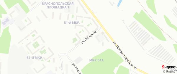 Улица Лобырина на карте Челябинска с номерами домов