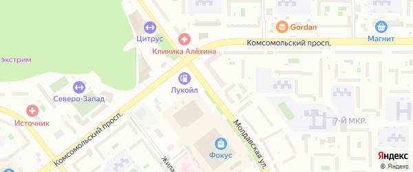 Молдавская улица на карте Челябинска с номерами домов