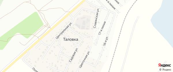 Садовый переулок на карте деревни Таловки с номерами домов