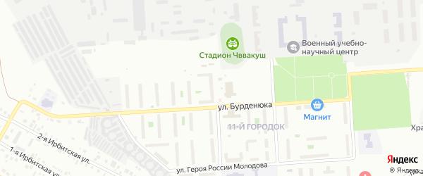 Территория ГСК 508 по ул Бурденюка блок 6 на карте Челябинска с номерами домов