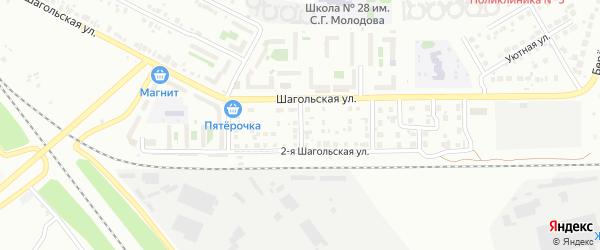 Шагольский 2-й переулок на карте Челябинска с номерами домов
