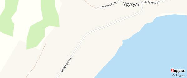 Ключевая улица на карте села Урукуля с номерами домов