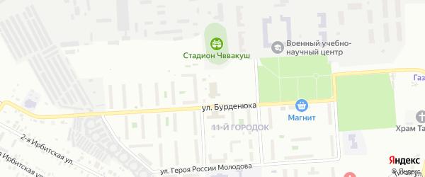 Территория ГСК 508 по ул Бурденюка блок 2 на карте Челябинска с номерами домов