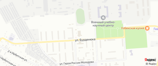 Территория ГСК 508 по ул Бурденюка блок 4 на карте Челябинска с номерами домов