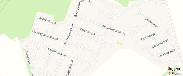 Улица Южного Урала на карте поселка Рощино с номерами домов
