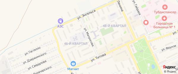 Улица Матросова на карте Еманжелинска с номерами домов