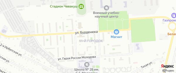 Территория ГСК 508 по ул Бурденюка блок 15 на карте Челябинска с номерами домов
