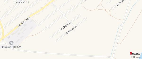 Степная улица на карте Еманжелинска с номерами домов
