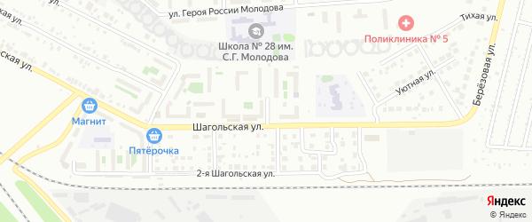 Улица Шагольская 1-й квартал на карте Челябинска с номерами домов