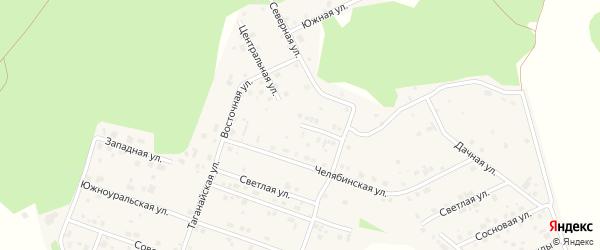 Центральная улица на карте поселка Рощино с номерами домов