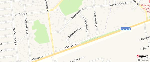 Рябиновая улица на карте Южноуральска с номерами домов