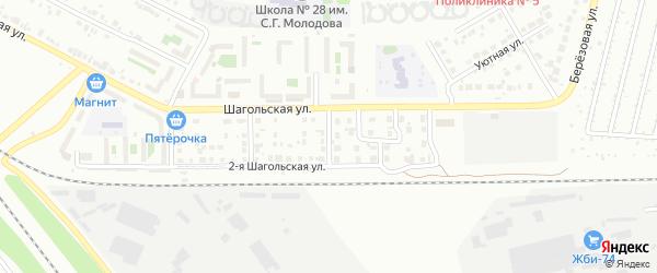 Шагольский 3-й переулок на карте Челябинска с номерами домов
