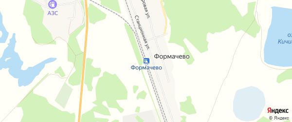 Карта станции Формачево в Челябинской области с улицами и номерами домов