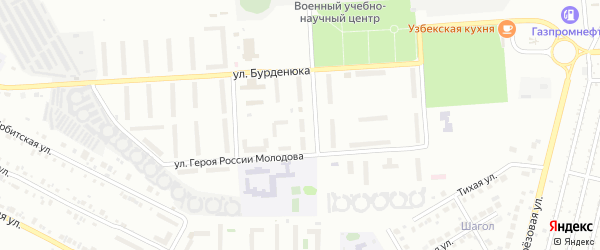 Территория ГСК 508 по ул Молодова блок 10 на карте Челябинска с номерами домов