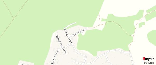 Южная улица на карте поселка Рощино с номерами домов