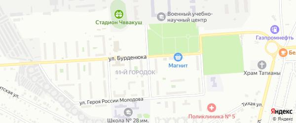 Сад Любитель-3 улица 11 на карте Челябинска с номерами домов