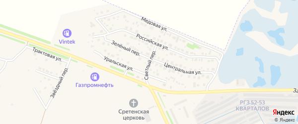 Светлый переулок на карте Еманжелинска с номерами домов