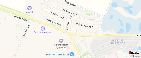 Уральская улица на карте Еманжелинска с номерами домов