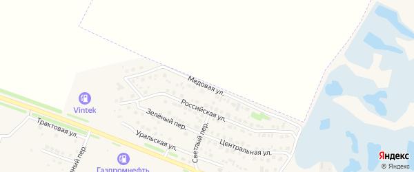 Медовая улица на карте Еманжелинска с номерами домов