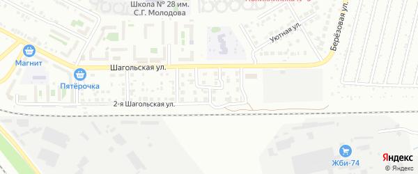 Яхонтовая улица на карте Челябинска с номерами домов