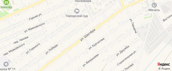 Улица Шахтера на карте Еманжелинска с номерами домов